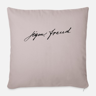 Freud Sigmund Freud's signature - Sofa pillow with filling 45cm x 45cm