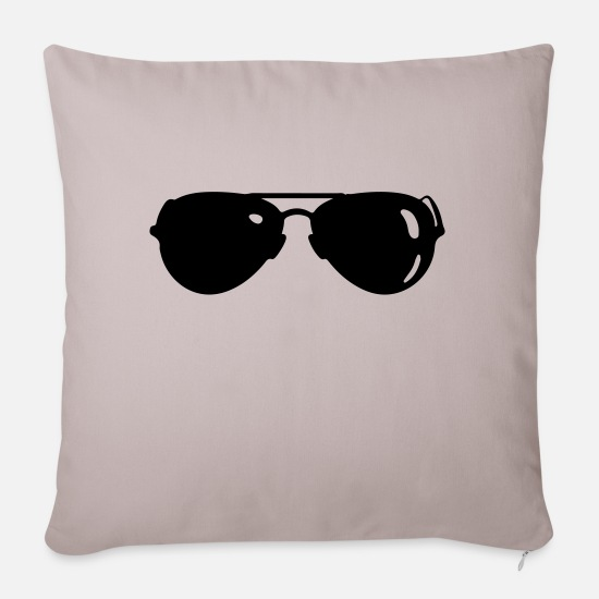 Glasses Pillow Cases - sunglasses - Sofa pillow with filling 45cm x 45cm light taupe
