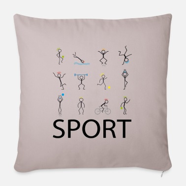 Sports Sport sport sport - Sofa pillow with filling 45cm x 45cm