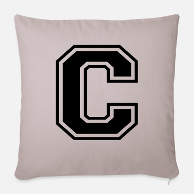 C c - Sofa pillow with filling 45cm x 45cm