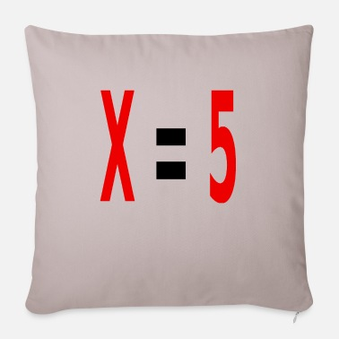 Variable Not Found x equals 5 v2 black - Sofa pillow with filling 45cm x 45cm