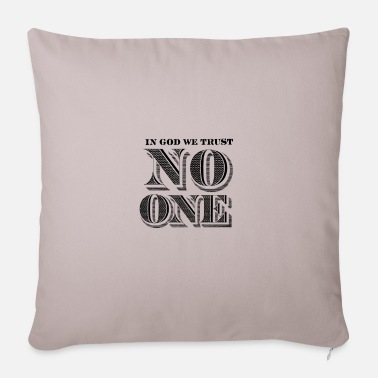 Federal Reserve no one - In God we Trust - Sofa pillow with filling 45cm x 45cm