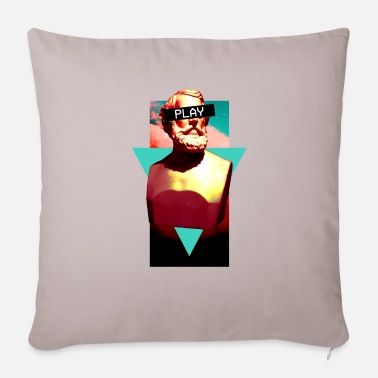 Vaporwave Statue Aesthetic Play Bust 1980 Surreal - Sofa pillow with filling 45cm x 45cm
