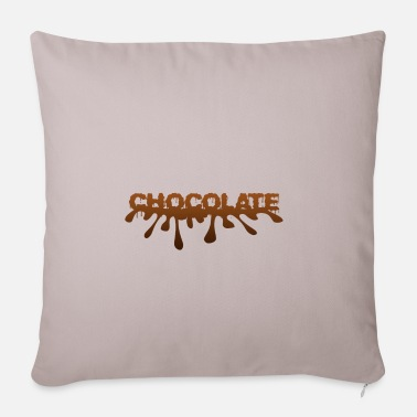 Chocolate chocolate - chocolate - Sofa pillow with filling 45cm x 45cm