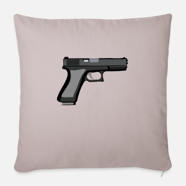 Gun Gun - Pistol - Gun - Sofa pillow with filling 45cm x 45cm