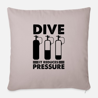 Under Water Diving dive diver diving saying - Sofa pillow with filling 45cm x 45cm