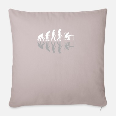 Home Office Man Evolution Man Home Office Work Office Gift - Sofa pillow with filling 45cm x 45cm