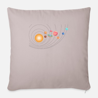 Galaxey Outer Space Funny Flat Earth Science Planets - Sofa pillow with filling 45cm x 45cm