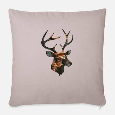 Funges Deer and Mushroom - Sofa pillow with filling 45cm x 45cm