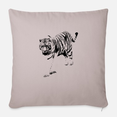 Tiger monochrome black - Sofa pillow with filling 45cm x 45cm