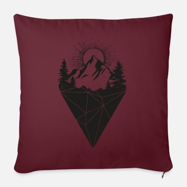 Sun mountain sun grunge - Sofa pillow with filling 45cm x 45cm