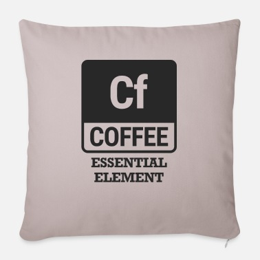 Elements Chemist / Chemistry: Coffee - Essential Element - Sofa pillow with filling 45cm x 45cm
