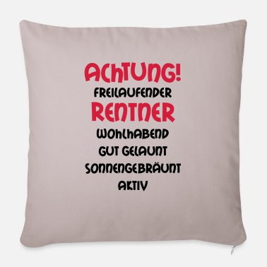 Grandad Underwear Warning freewheeling retirees, wealthy, well- - Sofa pillow with filling 45cm x 45cm