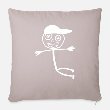Kid In A Cap - White - Sofa pillow with filling 45cm x 45cm