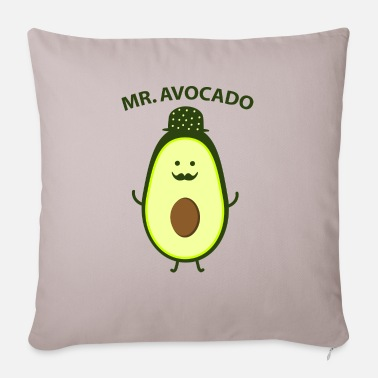 Mustasch Mr. Avocado - Sofa pillow with filling 45cm x 45cm