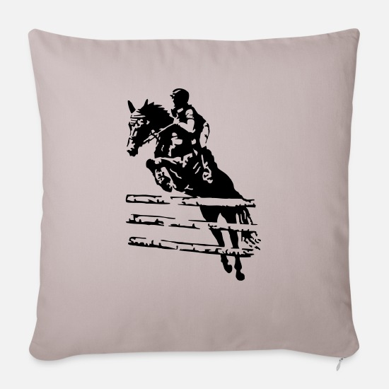 Race Pillow Cases - ride - Sofa pillow with filling 45cm x 45cm light taupe