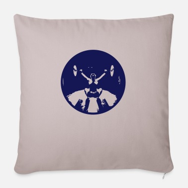 Girl Snatch Black small - Sofa pillow with filling 45cm x 45cm