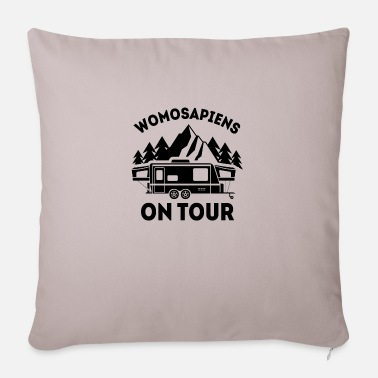 Campsite Womosapiens on Tour Camping RV gift - Sofa pillow with filling 45cm x 45cm