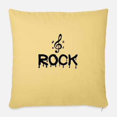 Black Dripping With Rock Quote - Sofa pillow with filling 45cm x 45cm