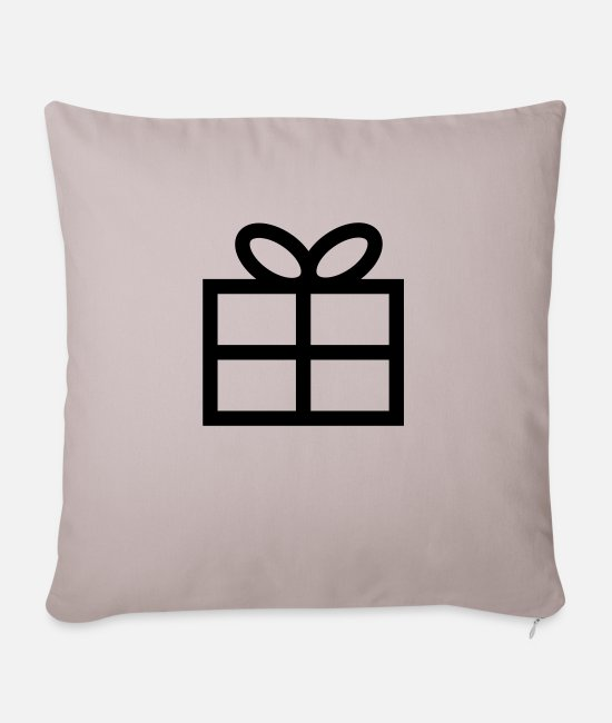Christmas Pillow Cases - Gift - Present - Sofa pillow with filling 45cm x 45cm light taupe