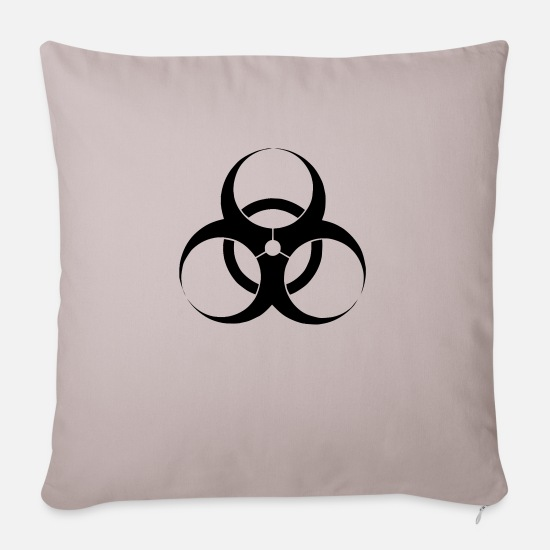 Toxic Pillow Cases - Virus (vector) - Sofa pillow with filling 45cm x 45cm light taupe