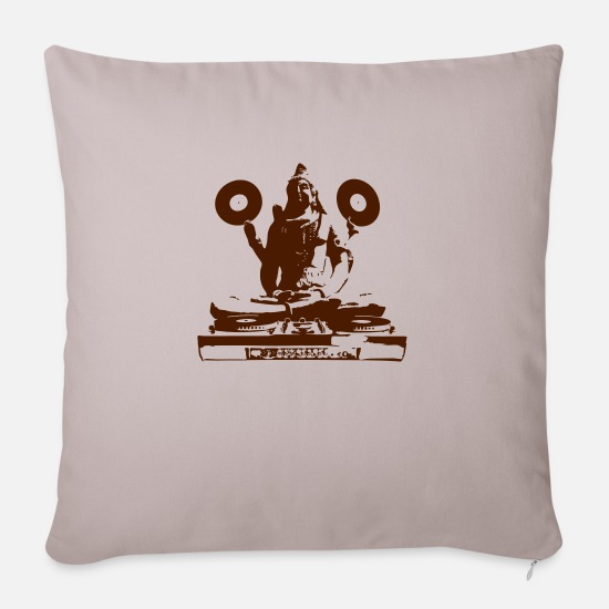 Vinyl Pillow Cases - Deejay SHIVA [vector] - Sofa pillow with filling 45cm x 45cm light taupe