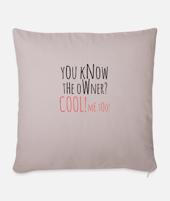Owner Pillow Cases - owner - Sofa pillow with filling 45cm x 45cm light taupe