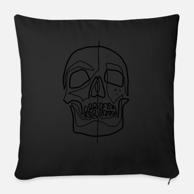 Line Drawing Skull line drawing - Sofa pillow with filling 45cm x 45cm