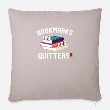 Book pun bookworms reading - Sofa pillow with filling 45cm x 45cm
