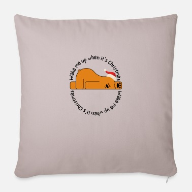 Milk Wake me up when it's christmas - Sofa pillow with filling 45cm x 45cm