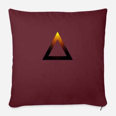 Abstract Abstract Triangle - Sofa pillow with filling 45cm x 45cm