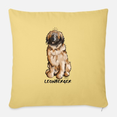 Dog Leon the Leonberger - Sofa pillow with filling 45cm x 45cm