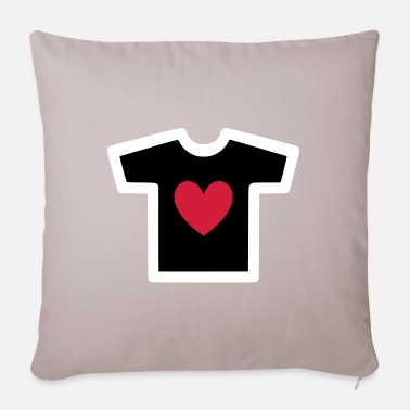 Shape Underwear ★ Design colors changeable ★ T-shirt with heart - Sofa pillow with filling 45cm x 45cm