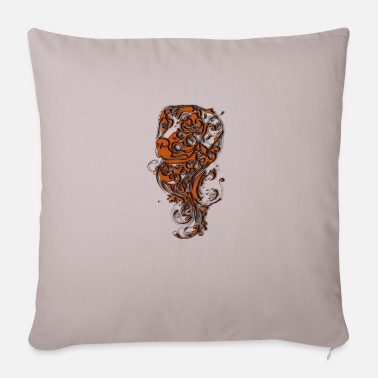 Coffee dog - Sofa pillow with filling 45cm x 45cm