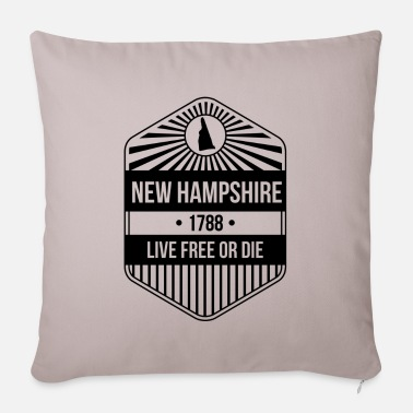 State New Hampshire State Motto graphic - Live Free Or - Sofa pillow with filling 45cm x 45cm