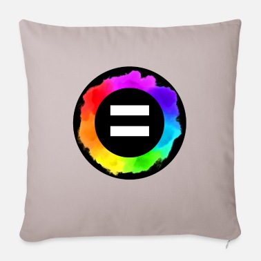 Marriage Equality Equal Rainbow Equal Colors icon LGBTQ LGBT - Sofa pillow with filling 45cm x 45cm