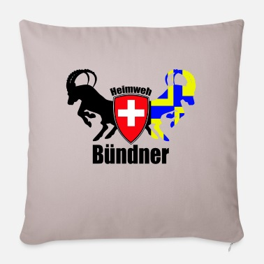 Homesickness homesick bündner - Sofa pillow with filling 45cm x 45cm