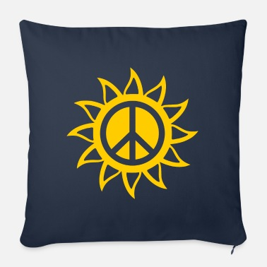 Sun Signs Sun peace sign - Sofa pillow with filling 45cm x 45cm
