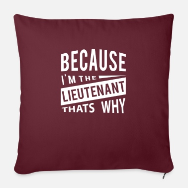 Because Im The Lieutenant Thats Why - navy - Sofa pillow with filling 45cm x 45cm