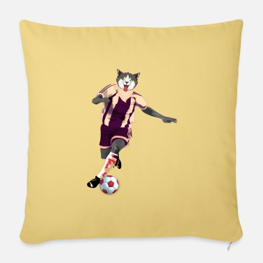Corner Kick Cat footballer - Sofa pillow with filling 45cm x 45cm