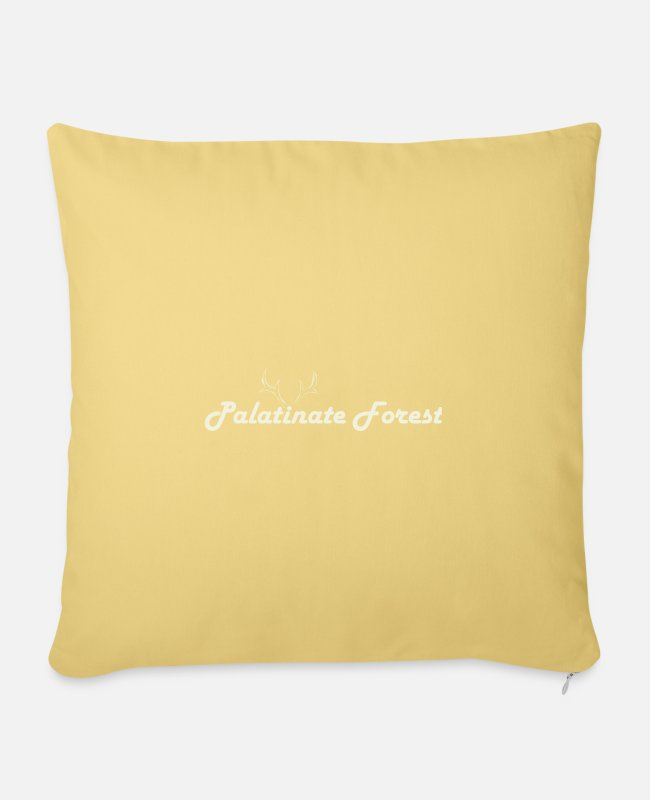 ° #mosel Pillow Cases - Palatinate Forest mountain view - Sofa pillow with filling 45cm x 45cm washed yellow