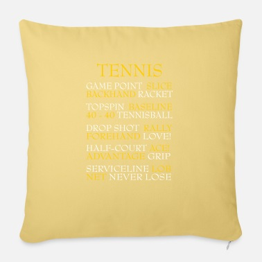 Murray Tennis Tennis words - Sofa pillow with filling 45cm x 45cm