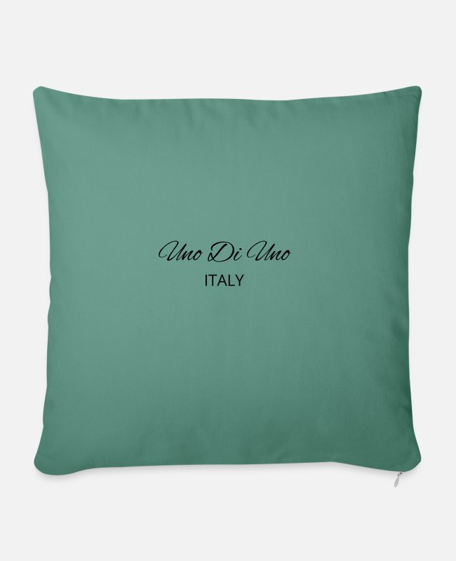 Premier Pillow Cases - Uno Di Uno simple cotton t-shirt - Sofa pillow with filling 45cm x 45cm cypress green