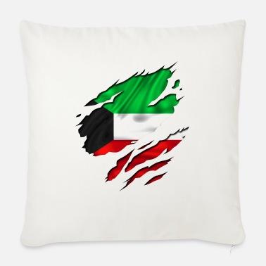 Country Flag Football Sport And Arab Art Jesus koweit koweït kuwait - Sofa pillow with filling 45cm x 45cm