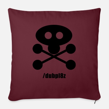 DUBPL8Z logo design REVERSE with social tag - Sofa pillow with filling 45cm x 45cm