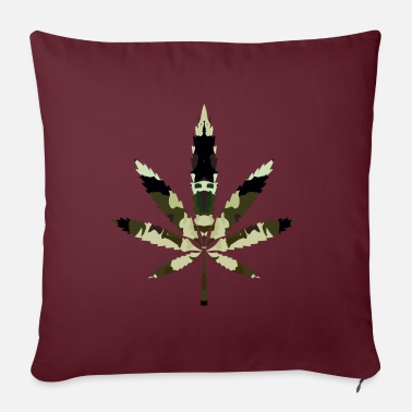 Cannabis, hemp, camouflage - Sofa pillow with filling 45cm x 45cm