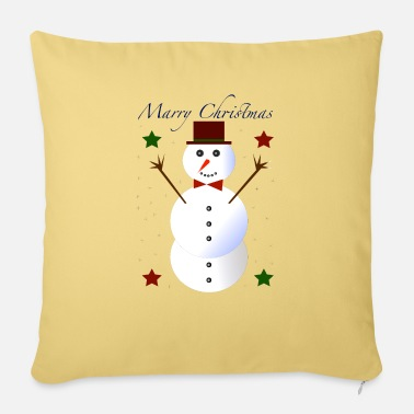 Marry Christmas Snowman # 1 - Sofa pillow with filling 45cm x 45cm