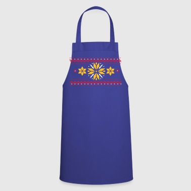 Star pattern in the Norwegian style - Cooking Apron