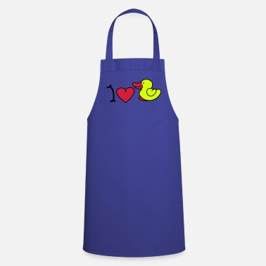 Iheart I love ducks - Delantal de cocina