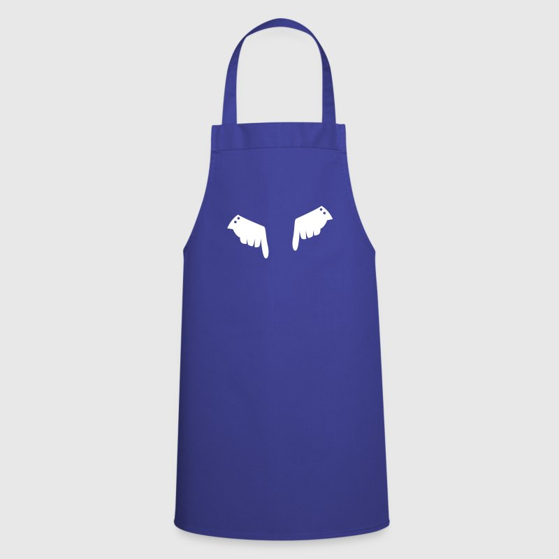 two fancy gloved hands pointing down - Cooking Apron